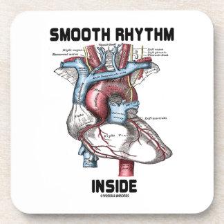 Interior liso del ritmo (corazón anatómico médico) posavaso