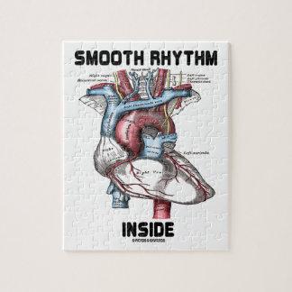 Interior liso del ritmo (corazón anatómico médico) puzzles con fotos