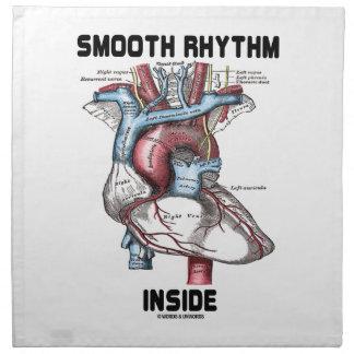 Interior liso del ritmo (corazón anatómico médico) servilleta