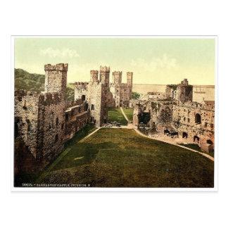 Interior looking east Carnarvon Castle i e Cae Postcard
