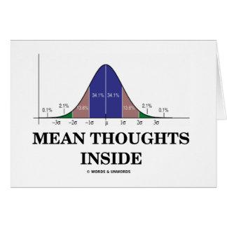 Interior malo de los pensamientos (humor de las es tarjeton