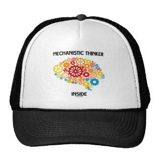 Interior mecánico del pensador (cerebro de los eng gorro de camionero