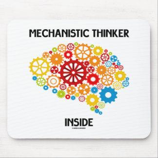 Interior mecánico del pensador cerebro de los eng alfombrilla de raton