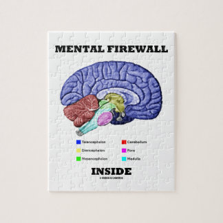 Interior mental del cortafuego (cerebro anatómico) rompecabeza con fotos