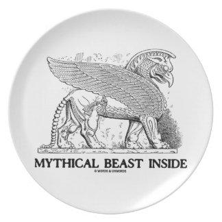 Interior mítico de la bestia (grifo/Gryphon) Plato