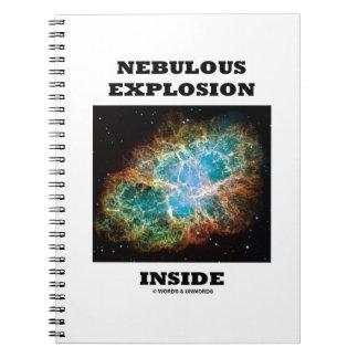 Interior nebuloso de la explosión (nebulosa de cuaderno