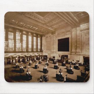 Interior New York Stock Exchange Manhattan Sepia Mouse Pad
