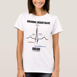 Interior normal del latido del corazón (ECG EKG) Playera