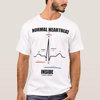 Interior normal del latido del corazón (EKG) Playera