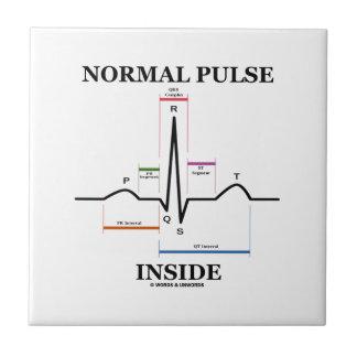 Interior normal del pulso (electrocardiograma de E Tejas Ceramicas