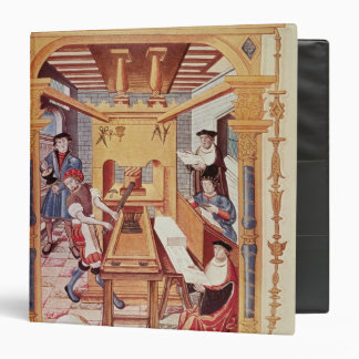Interior of a 16th century printing works 3 ring binder