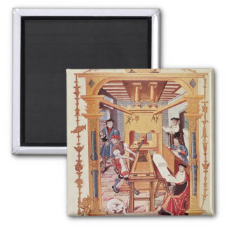 Interior of a 16th century printing works fridge magnets
