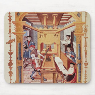 Interior of a 16th century printing works mouse pad