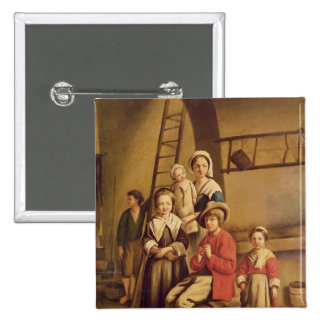 Interior of a Barn Pinback Buttons