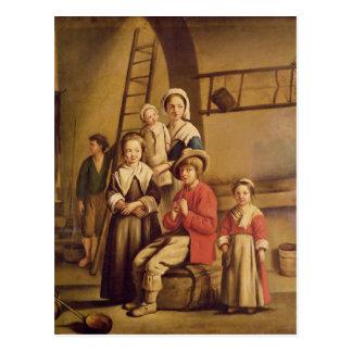 Interior of a Barn Postcard