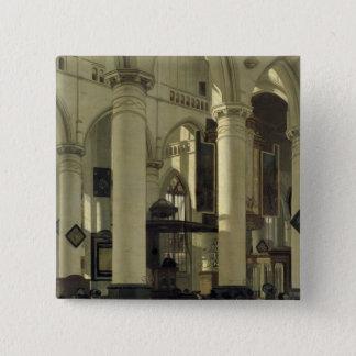 Interior of a church button