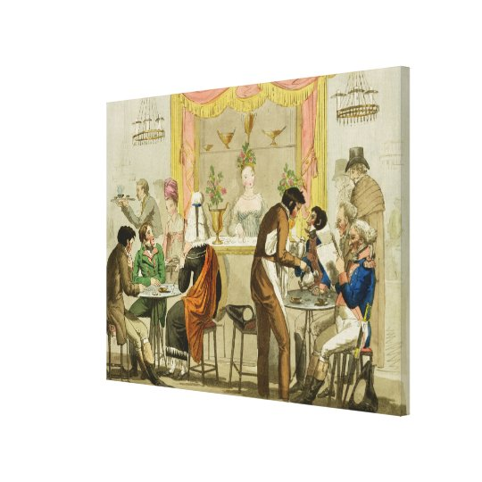 Interior of a Coffee House, pub. for William Pearm Canvas Print