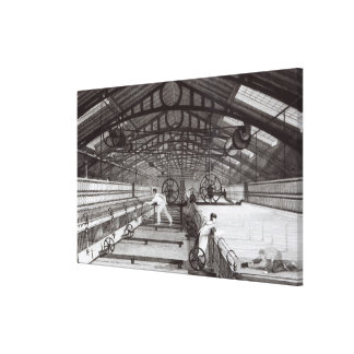 Interior of a Cotton Mill Canvas Print