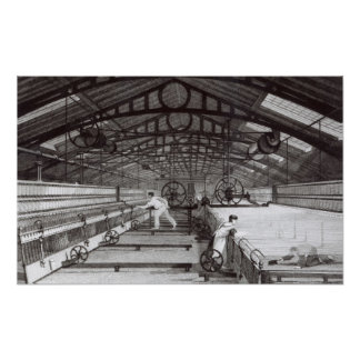 Interior of a Cotton Mill Poster