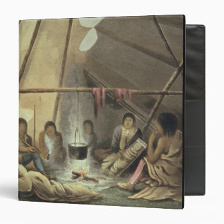 Interior of a Cree Indian Tent, March 25th 1820, f Binder
