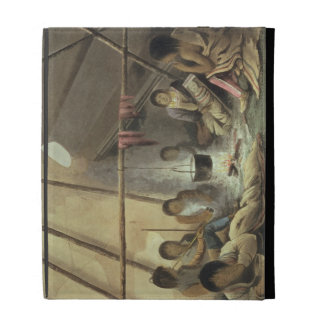 Interior of a Cree Indian Tent, March 25th 1820, f iPad Folio Cover