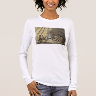 Interior of a Cree Indian Tent, March 25th 1820, f Long Sleeve T-Shirt