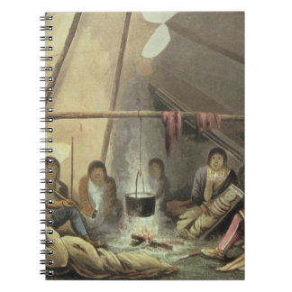 Interior of a Cree Indian Tent, March 25th 1820, f Spiral Notebook