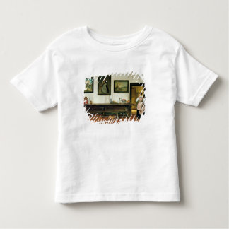 Interior of a dining hall, 1866 toddler t-shirt