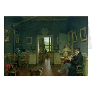 Interior of a Dining Room, 1816 Card