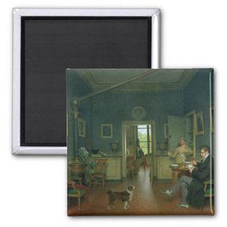 Interior of a Dining Room, 1816 Refrigerator Magnet