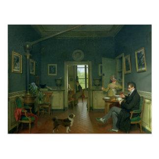 Interior of a Dining Room, 1816 Postcard