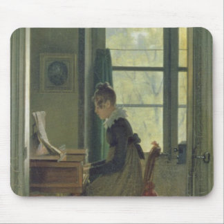 Interior of a Dining Room, detail of a woman Mouse Pads