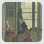 Interior of a Dining Room, detail of a woman Stickers