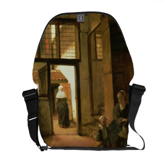 Interior of a Dutch House (oil on panel) Courier Bag