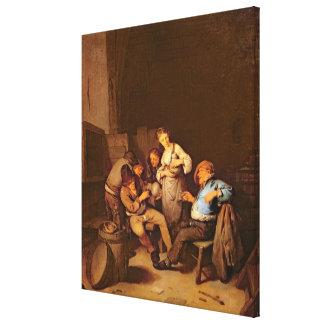 Interior of a Dutch Tavern Canvas Print