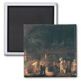 Interior of a Forge, 1771 2 Inch Square Magnet