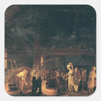 Interior of a Forge, 1771 Square Sticker