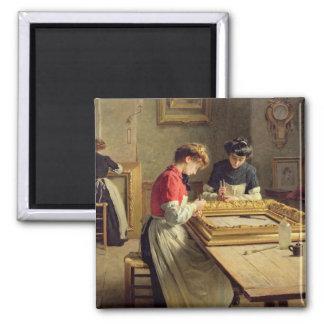 Interior of a Frame Gilding Workshop Magnet