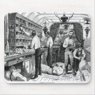 Interior of a French railway postal wagon Mousepad