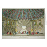 Interior of a Gallery Leading to Vauxhall Gardens Greeting Card