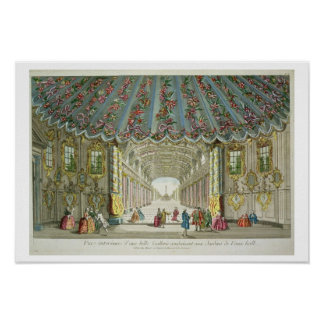 Interior of a Gallery Leading to Vauxhall Gardens Poster