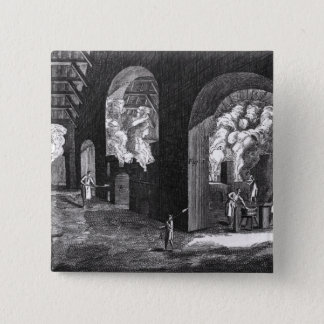 Interior of a Glass Factory Pinback Button