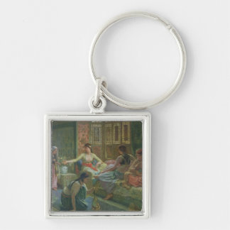 Interior of a Harem, c.1865 Silver-Colored Square Keychain