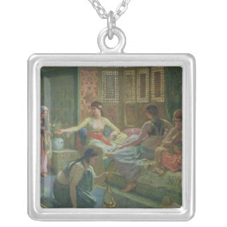 Interior of a Harem, c.1865 Silver Plated Necklace