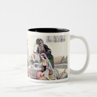 Interior of a Harem, in Cairo (colour litho) Two-Tone Coffee Mug