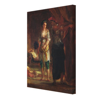Interior of a Harem in Oran, c.1847 Canvas Print