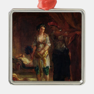 Interior of a Harem in Oran, c.1847 Christmas Ornaments