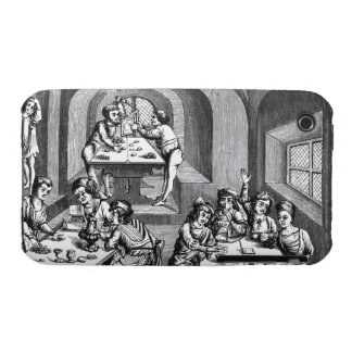 Interior of a hostelry, after a woodcut in a folio Case-Mate iPhone 3 case