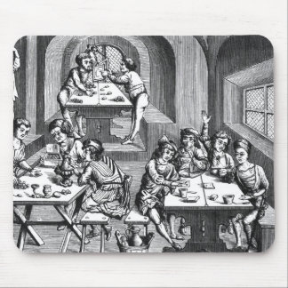 Interior of a hostelry, after a woodcut in a folio mouse pad
