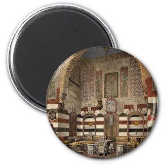 Interior of a house, Damascus, Holy Land, (i.e. Sy Refrigerator Magnets